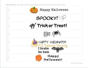 Halloween Paper Bracelets