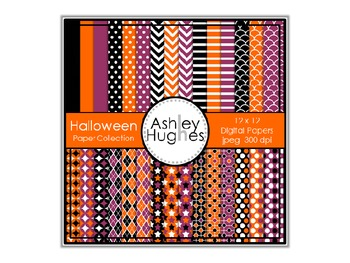Halloween Paper Collection {12x12 Digital Papers for Comme