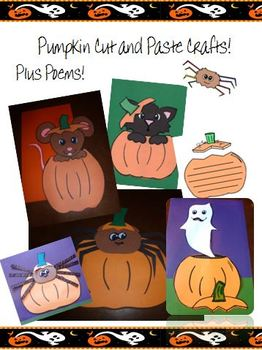Halloween Paper Crafts - Pumpkin Rats, Cats, Spiders and Ghosts