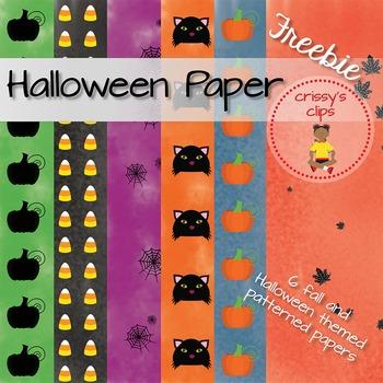Halloween Paper Freebie