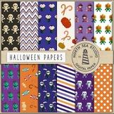 Halloween Paper, Halloween Decor, Pumpkin Monster, Witch, Zombies, Skeletor