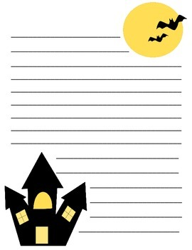 Halloween Paper for Writing Prompts
