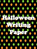 Halloween Paper for Writing