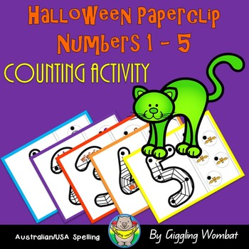 Halloween Paperclip Numbers 1-5