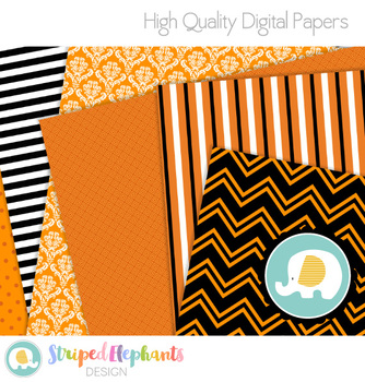 Halloween Papers Fall Orange
