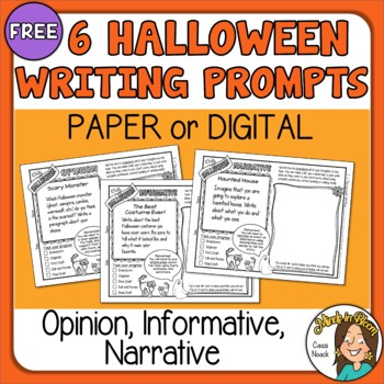 Halloween Paragraph Writing Prompts - FREE