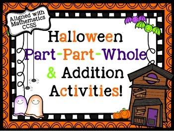 Halloween Part Part Whole & Addition Activities