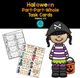 Halloween Number Bond Task Cards: Making a 10