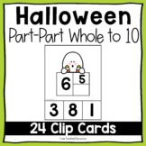 Halloween Part-Part Whole to 10 Clip Cards