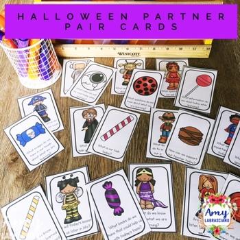 Halloween Partner Pairing Cards