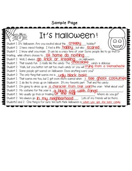 Halloween Activity: Halloween Reading Activity: Partner Skit