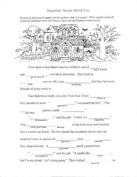 Halloween Parts of Speech