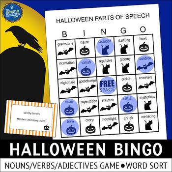 Parts of Speech Halloween Activities