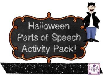 Halloween Parts of Speech Activity Pack