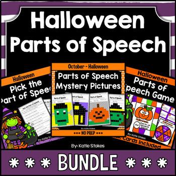 Halloween Parts of Speech BUNDLE