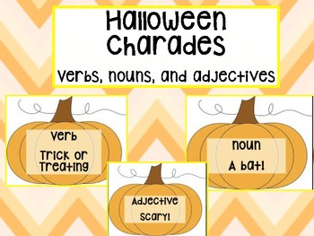 Halloween Parts of Speech Charades