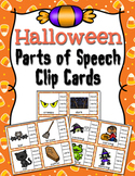 Halloween Parts of Speech Clip Cards