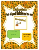 Halloween Parts of Speech Elimination and Tree Maps