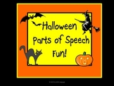 Halloween Parts of Speech Fun with Sorting and Sentence Writing Activities