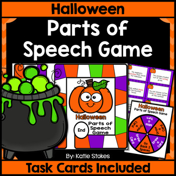 Halloween Parts of Speech Game