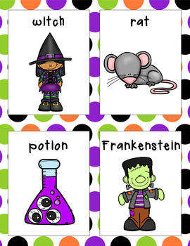 Halloween Parts of Speech Literacy Activity #2