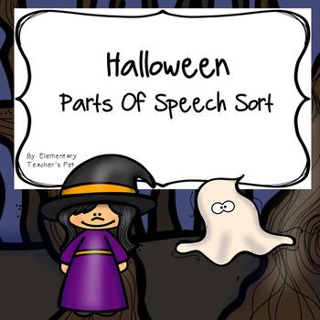 Halloween Parts of Speech Literacy Activity
