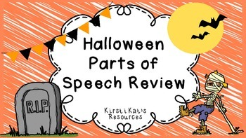 Halloween Parts of Speech Review