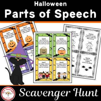 Halloween Parts of Speech Scavenger Hunt