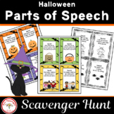 Halloween Parts of Speech Scavenger Hunt