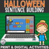 Halloween Sentence Building Digital Activity with Parts of Speech