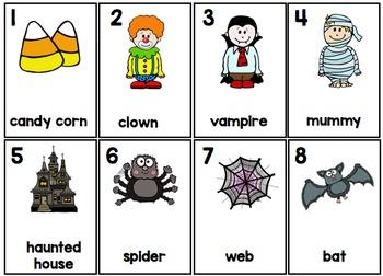 Halloween Parts of Speech - Silly Sentences