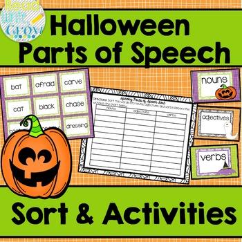 Halloween Parts of Speech Sort & Activities