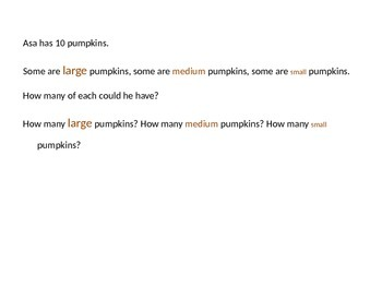 Halloween Parts of a Whole Lesson Plan