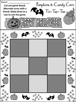 Halloween Party Activities: Halloween Tic-Tac-Toe Games Activitiy Packet