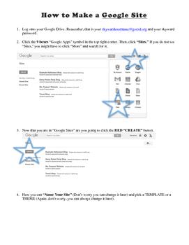 Halloween Party Blog Using Google Sites