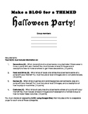 Halloween Party Blog Using Google Sites