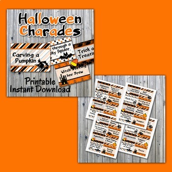 image about Halloween Charades Printable referred to as Halloween Celebration Offer - Picture Booth Props, Decorations, Bingo, Online games -Printable