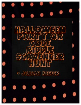 Halloween Party Center: QR Code Riddle Scavenger Hunt