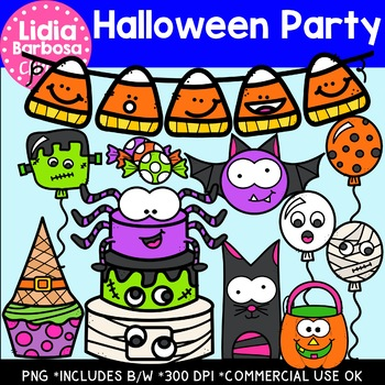 Halloween Party- Digital Clipart