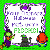 Halloween Party Game Four Corners FREEBIE!
