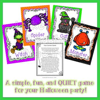 Halloween Party Game Four Corners FREEBIE!