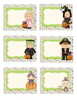 Halloween Party Labels