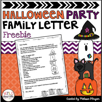 Halloween Party Letter (Editable) FREE