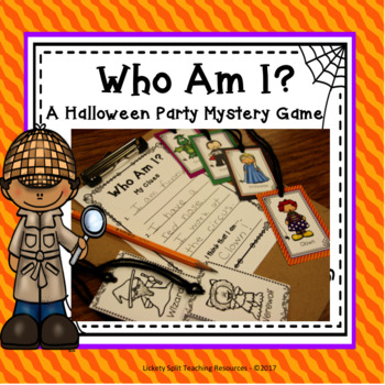 Halloween Party Mystery Game - Who Am I?