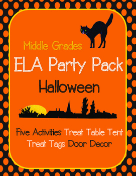 Halloween Party Pack: ELA Stations, Decor, Treat Table Ten