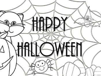 Halloween Party Place Mat- Coloring Page- FREE