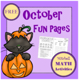October Fun Pages