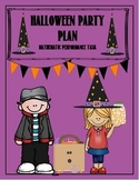 Halloween Party Plan Performance Task