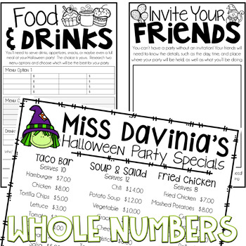 Halloween Party Planner {A Project Based Learning Activity}