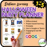 Halloween Math Activities Digital Project Based Learning Party Planner